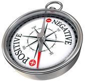 pozitivní negativní slova na kompasu rámcové obrázek