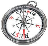 změnit vs zbytek koncepce kompas