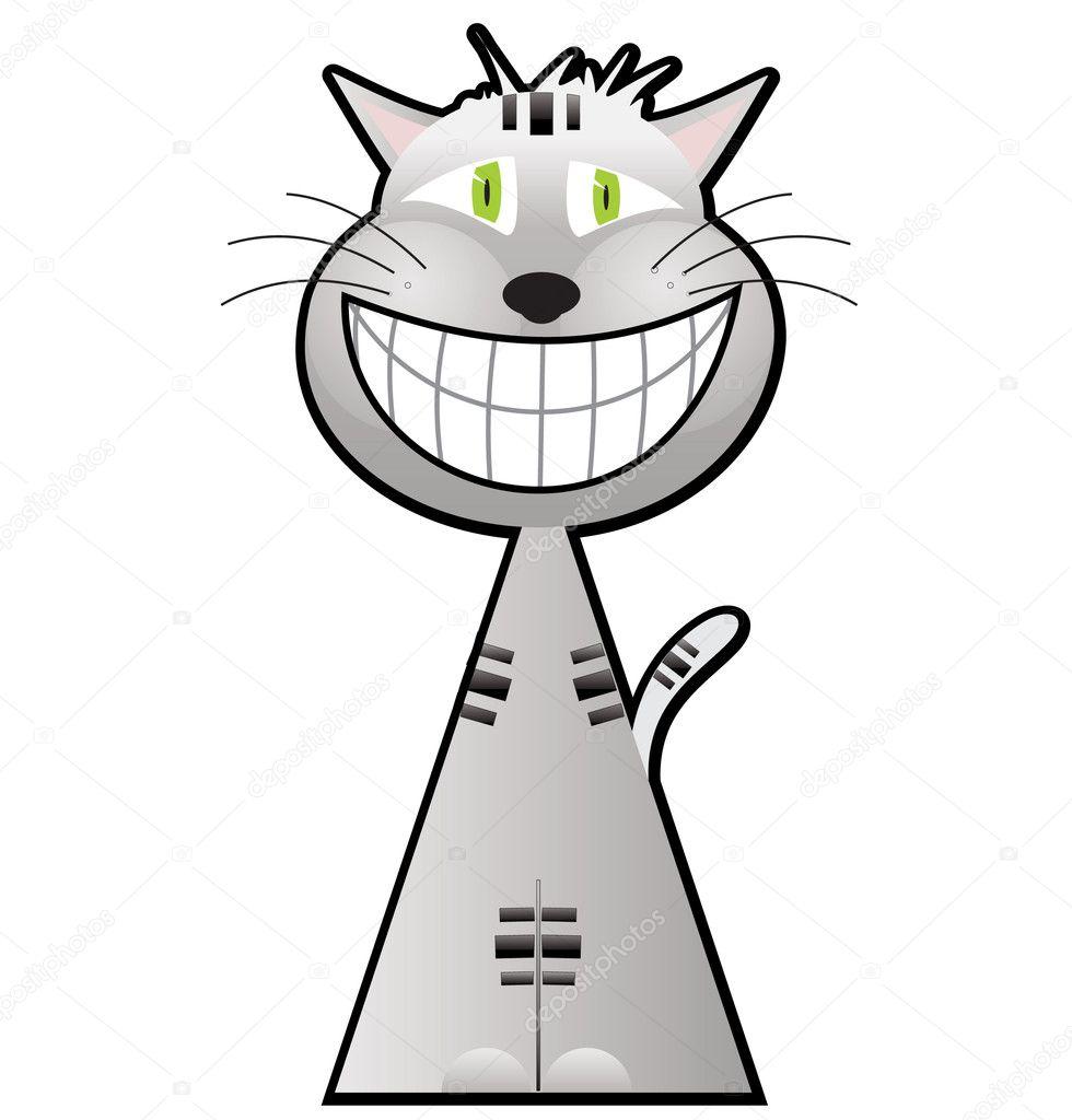 dibujos animados de gato de Cheshire — Vector de stock © Chuhail ...