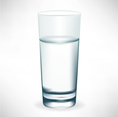 simple tall glass of water