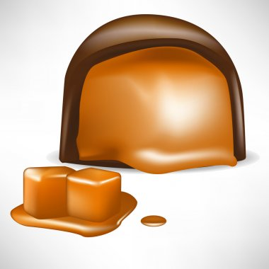 chocolate candy filled with caramel
