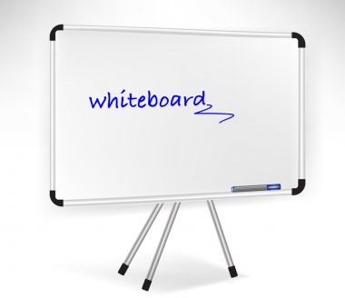 presentation whiteboard isolated on white