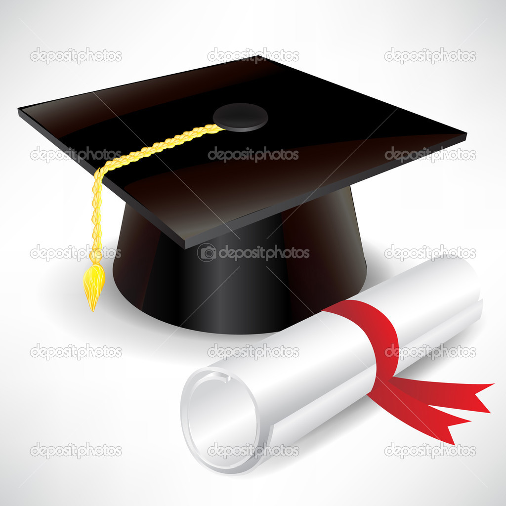graduation cap and diploma stock vector © corneliap  graduation cap and diploma stock vector 7040678
