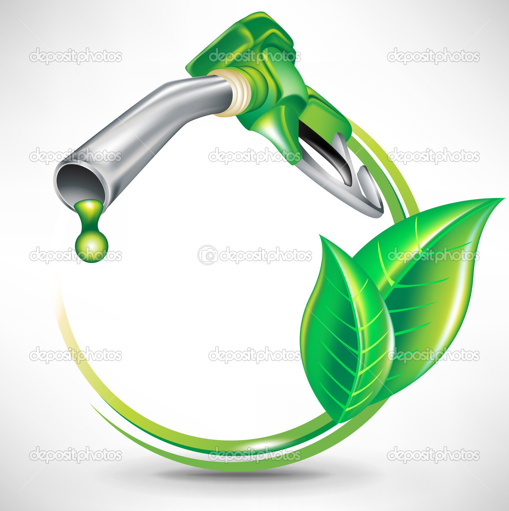 Green energy fuel concept; gas pump nozzle