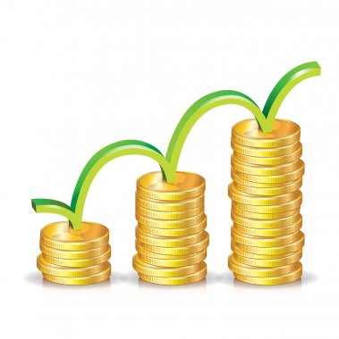 Stack of coins ascending graph