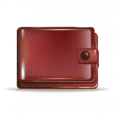 Leather closed wallet