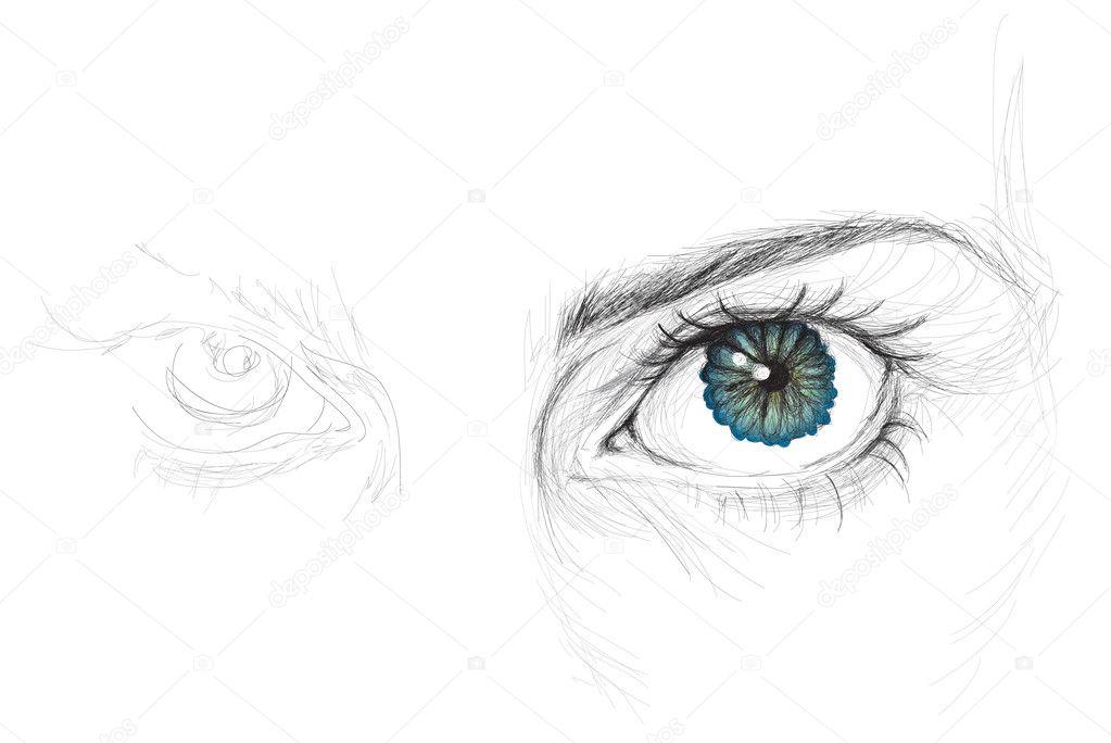 Eye with flower iris