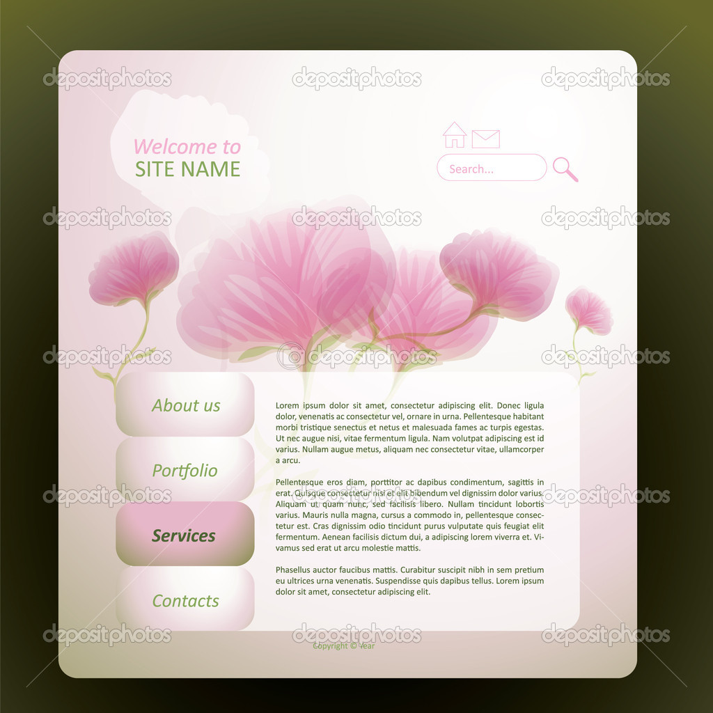 Layout Flower Website