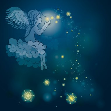 Angel plays with stars