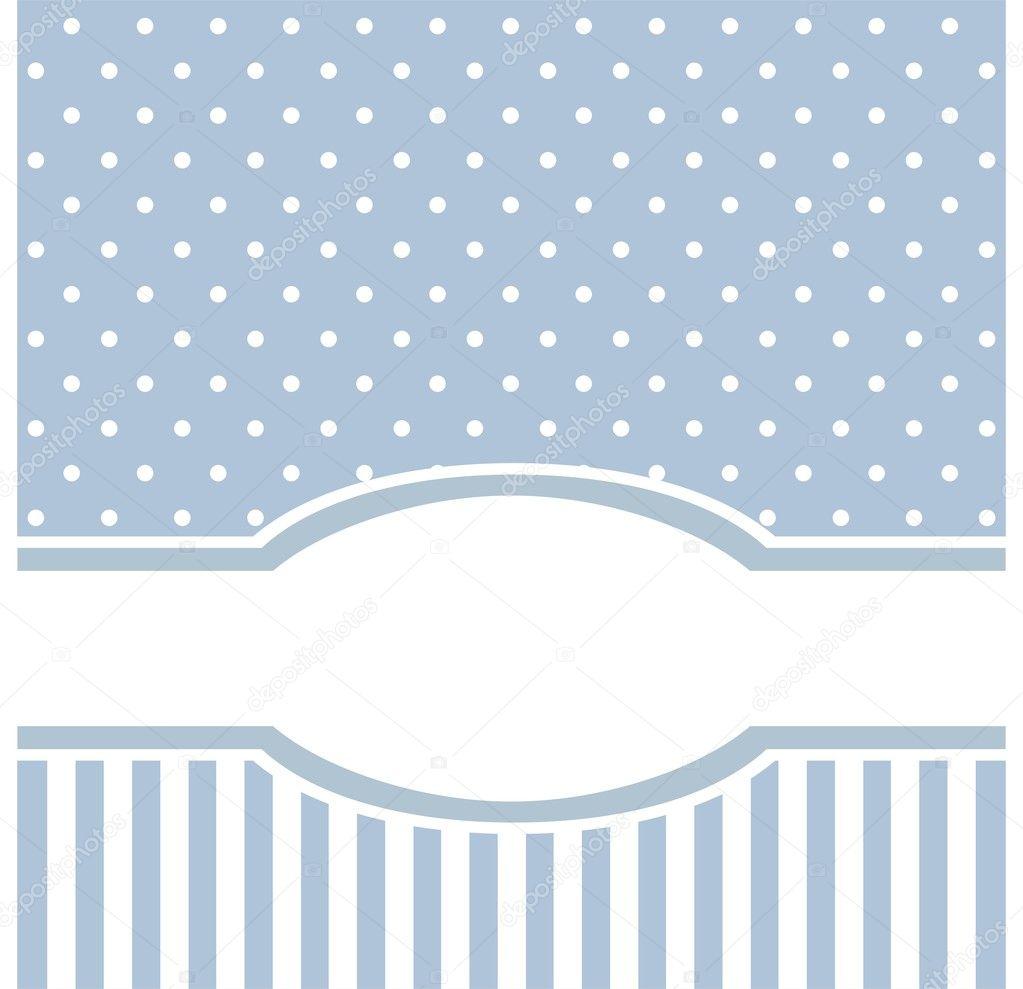 Fondos Invitaciones Baby Shower Vector De Lunares Azules