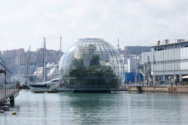 Genoa, acquarium and biosphere