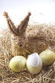 húsvéti nyuszi és tojás