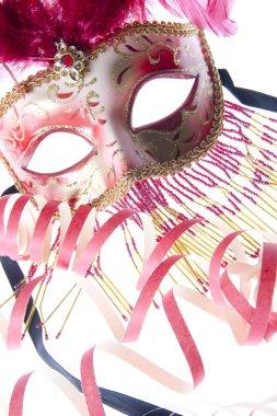Venice mask with confetti