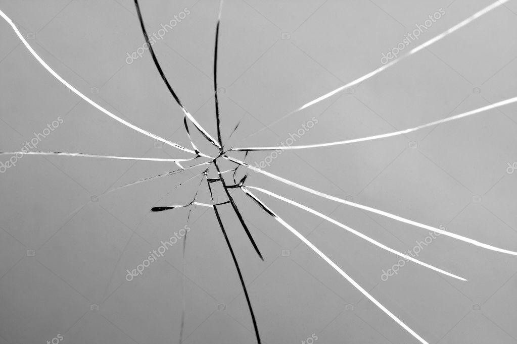 Beroemd gebroken en verbrijzelde ruit — Stockfoto © ArenaCreative #7565642 ND47