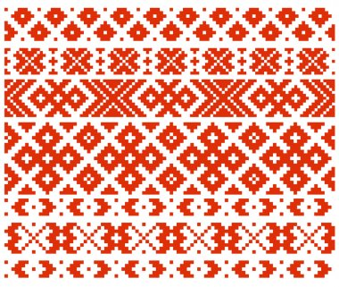 Belarussian traditional ornament eight