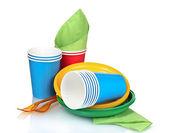világos műanyag edények