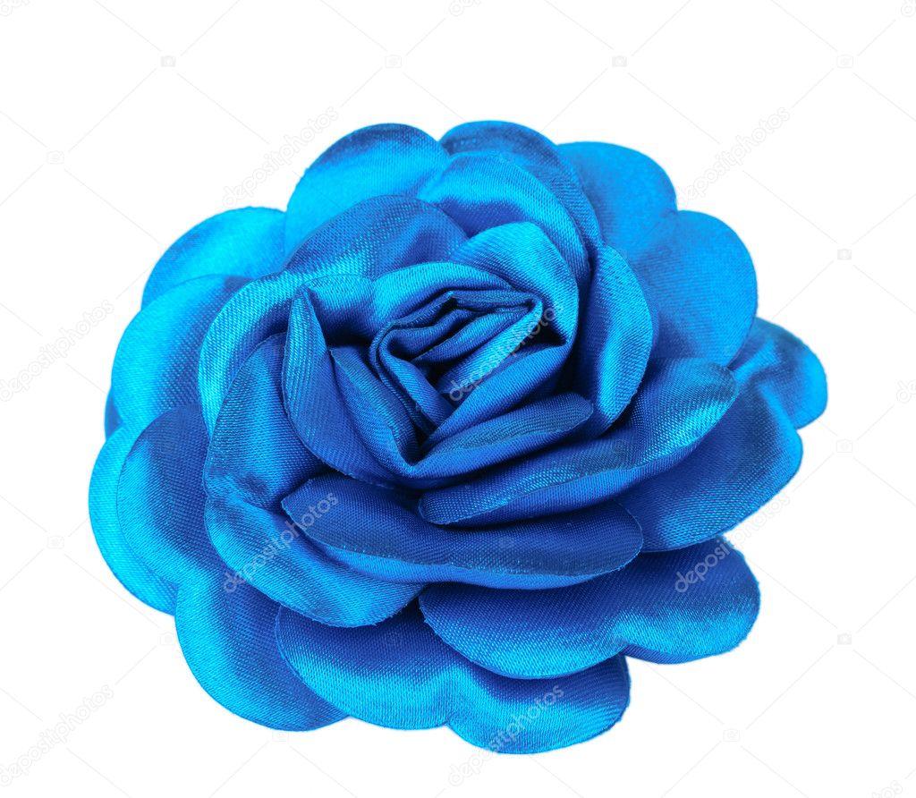Beautiful blue satin flower