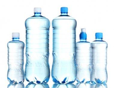 Group plastic bottles of water