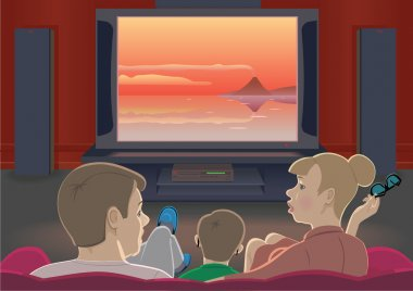 Family watch TV