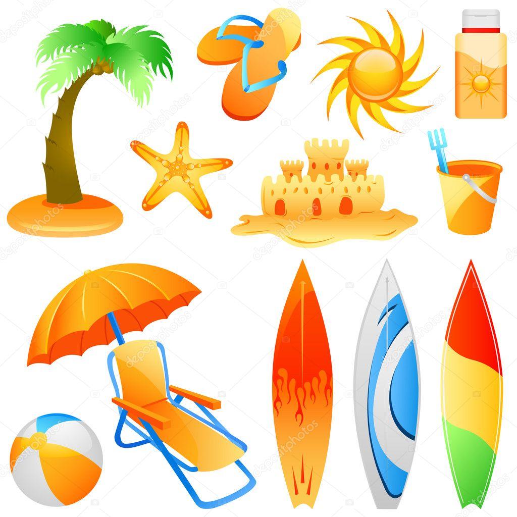 objetos de playa archivo imágenes vectoriales bogalo 6766071