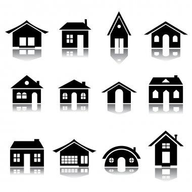 House icon silhouettes