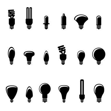 Light bulb icons, logo