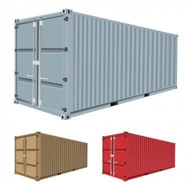 Set of freight container vector stock vector