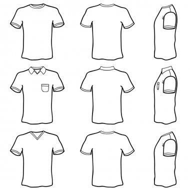Blank t shirt set