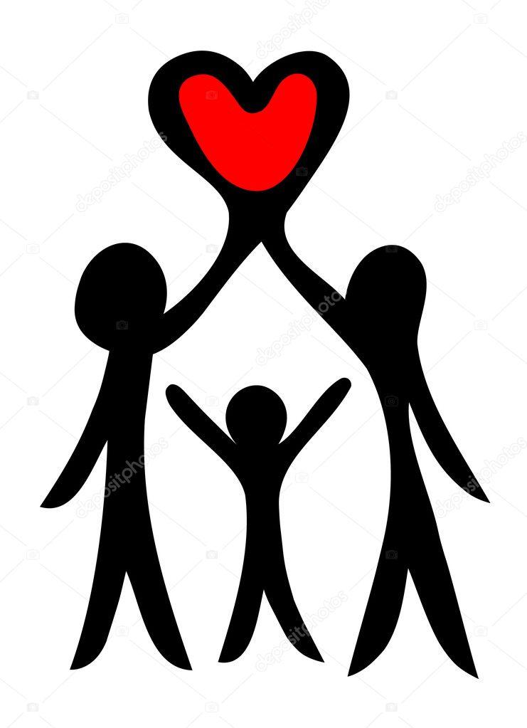 Happy family symbol — Stock Vector © bogalo #7322973