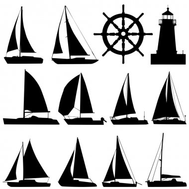 Sailing silhouette