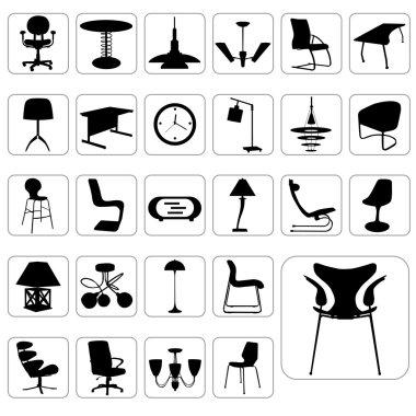 Big set of modern furniture