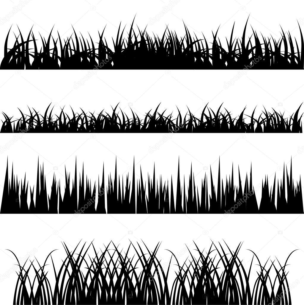 Grass vector set