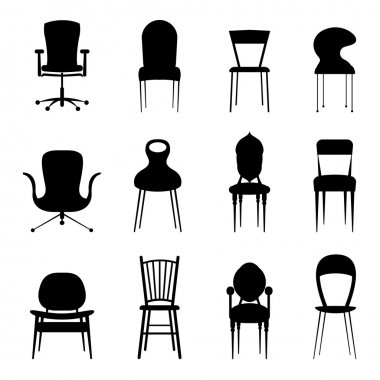 Chairs set vector stock vector