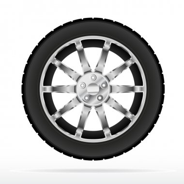 Car wheel and tyre