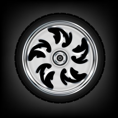 Motorcycle wheel and tyre