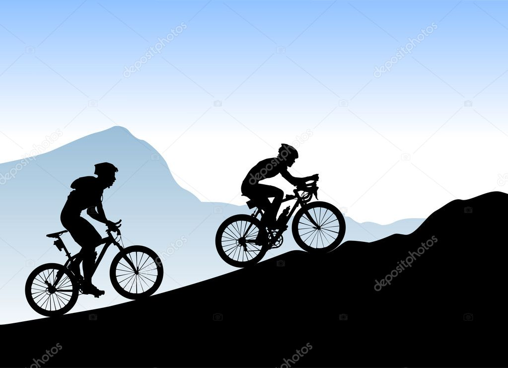 bikers background royalty free stock illustrations