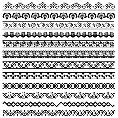 Border decoration design elements