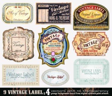 Vintage Labels Collection - Set 4