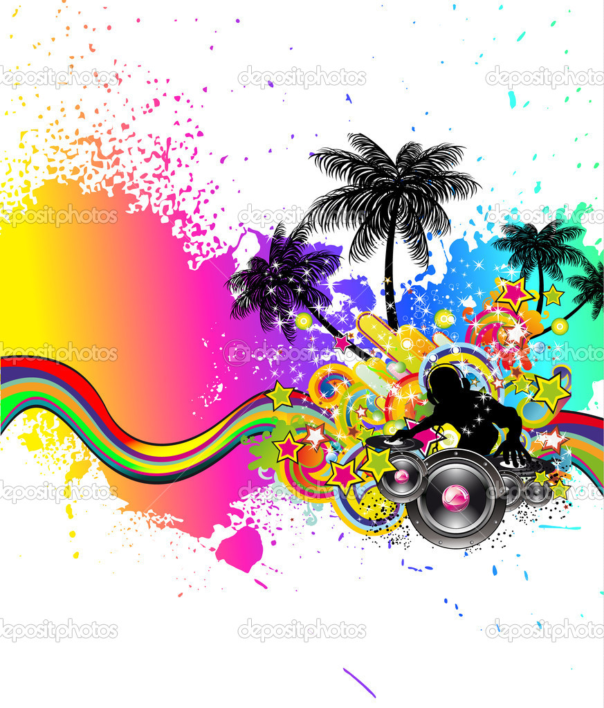 Latin Disco Event Background For Flyers Stock Vector C Davidarts