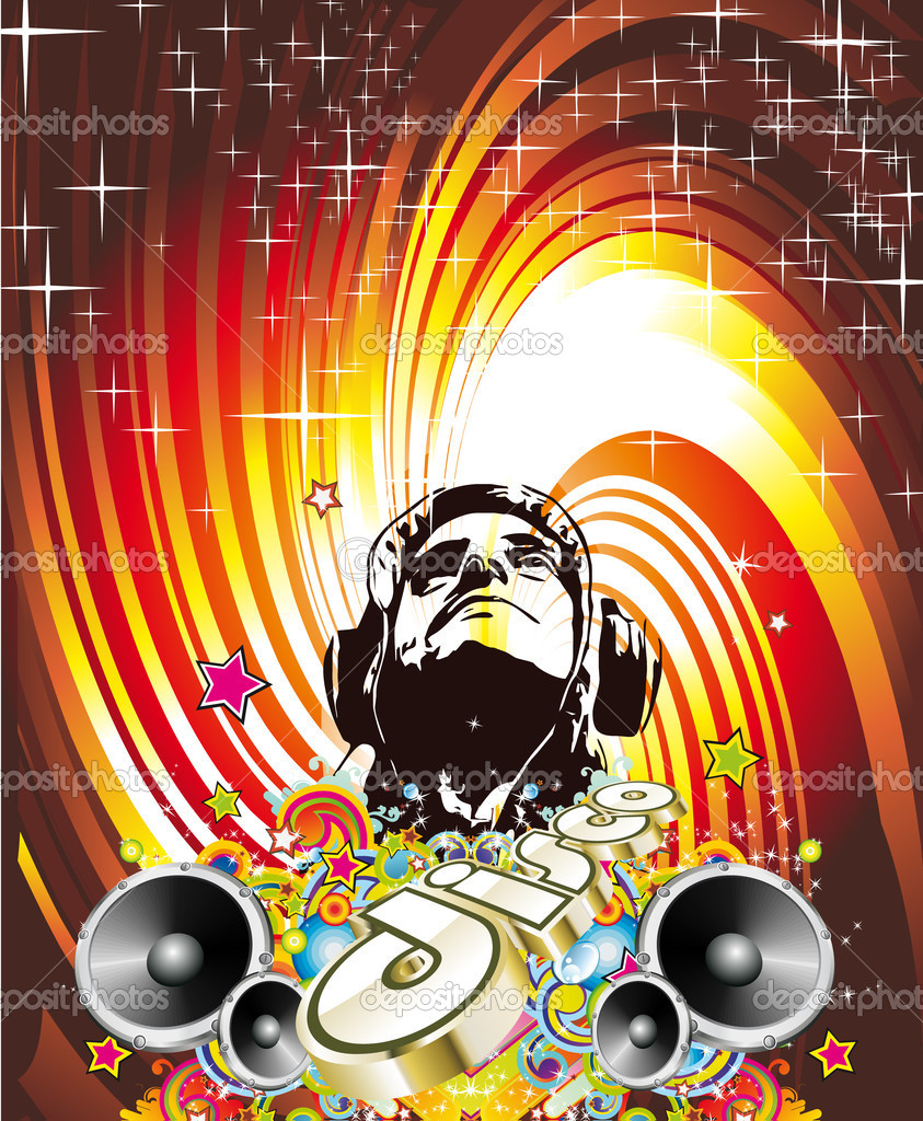 Disco Dance Event Background with Music Design Elements ...