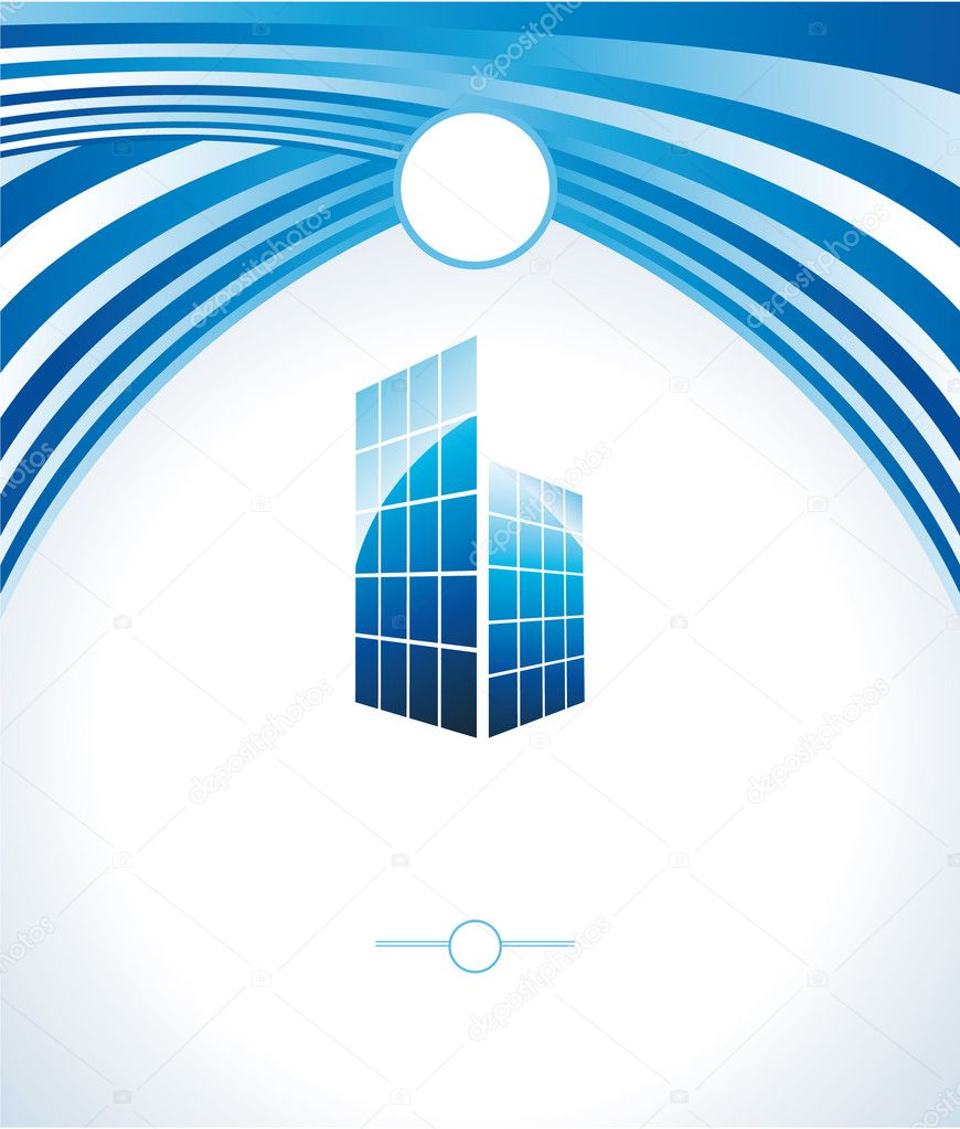 Abstract Real Estate Colorful Business Card stock vector