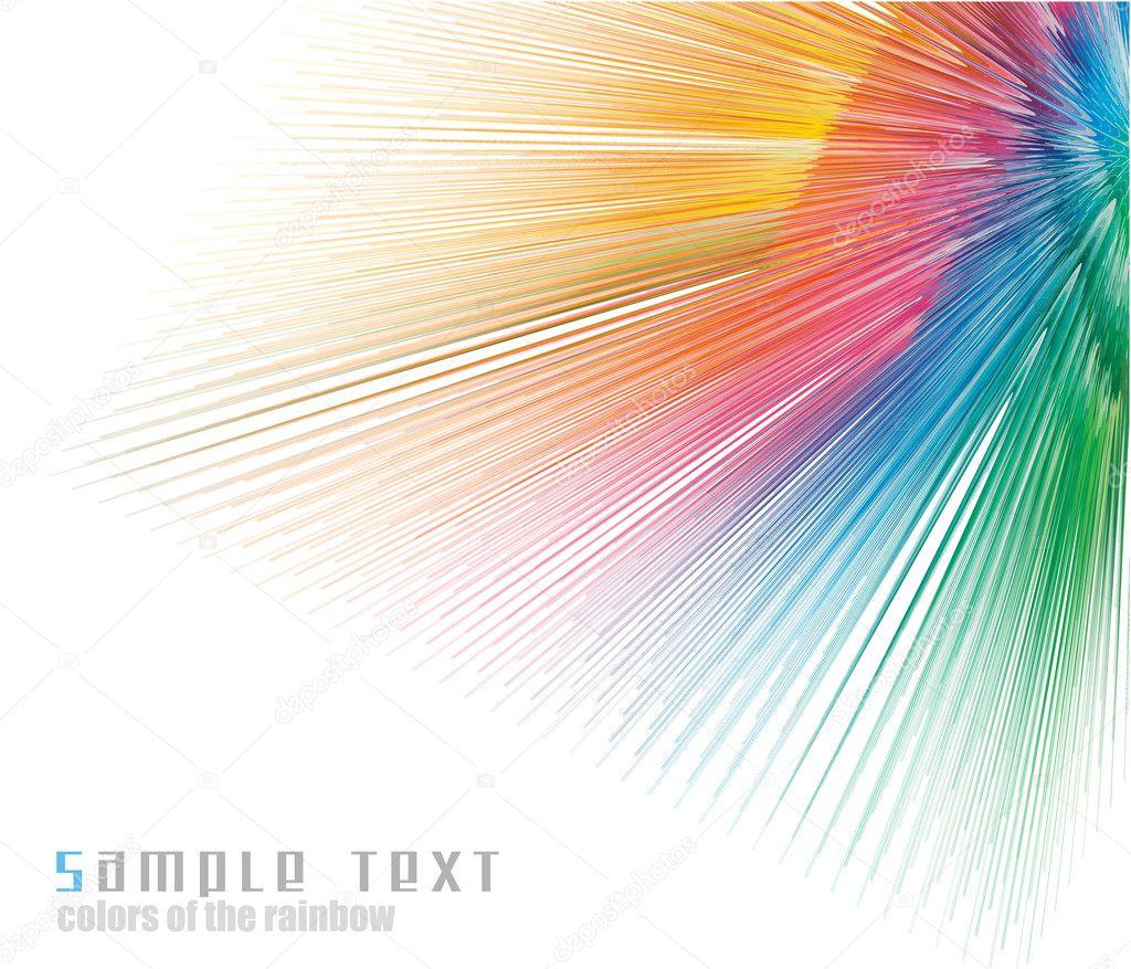 Rainbow Colours Spectrum Business Card Background Stock Vector
