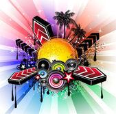 Tropische Latin Musikalische Veranstaltung Hintergrund