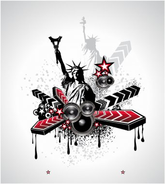 U.S.A. Abstract Music Background