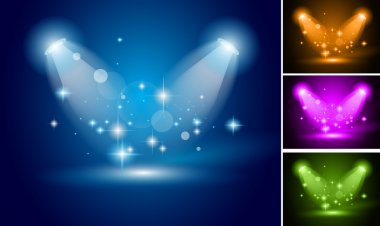Magic Spotlights backgrounds set