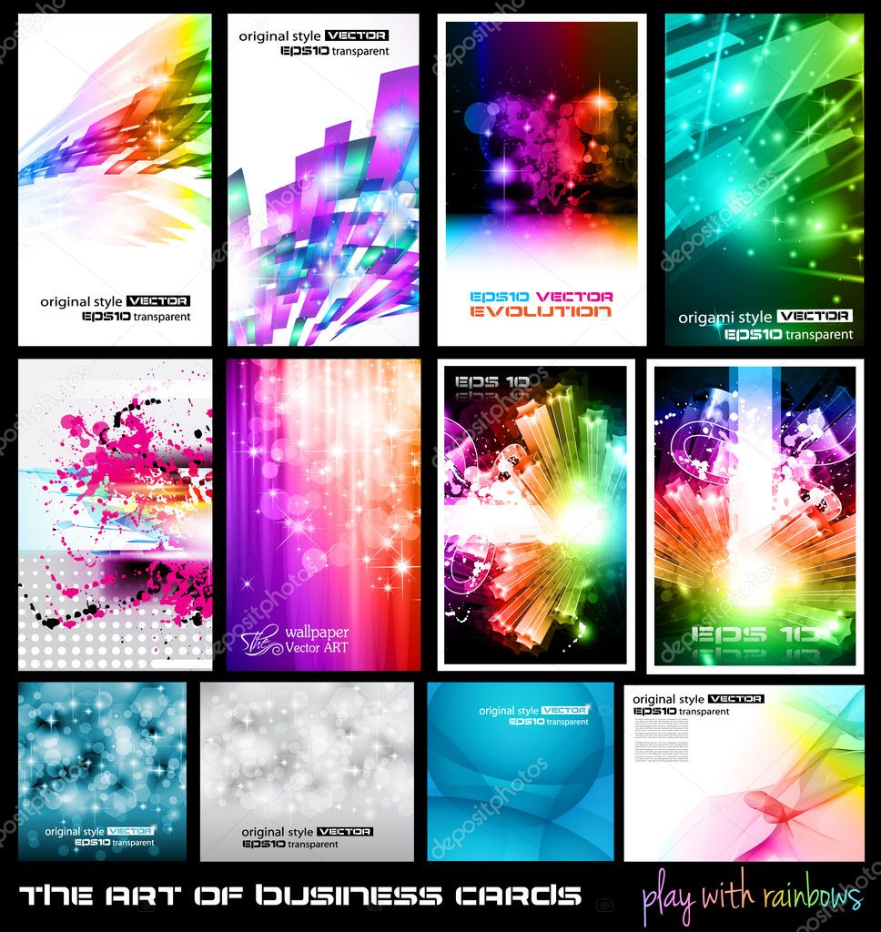 The art of business card Collection: play with rainbows.