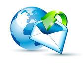 Fényképek Globális szállítás és E-mail kommunikáció fogalma