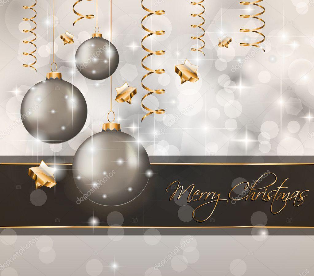 Merry christmas elegant suggestive background stock - Tarjetas de navidad elegantes ...