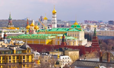 View to the Moscow Kremlin and city center from South-West