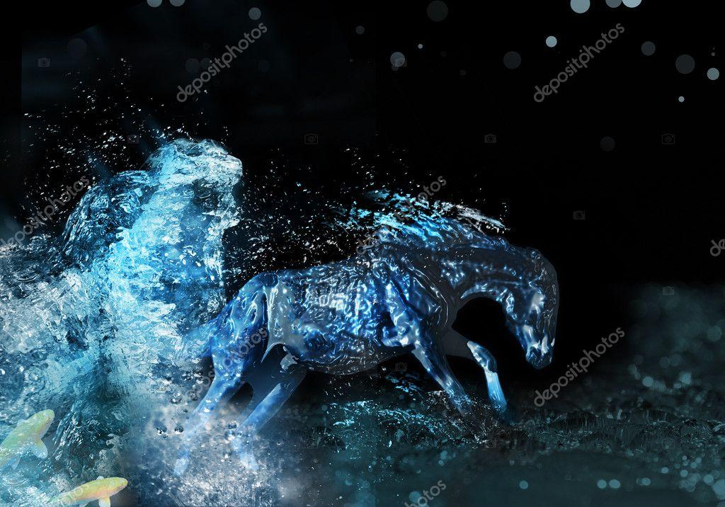 Water Horse Stock Photo C Leda D 6887628